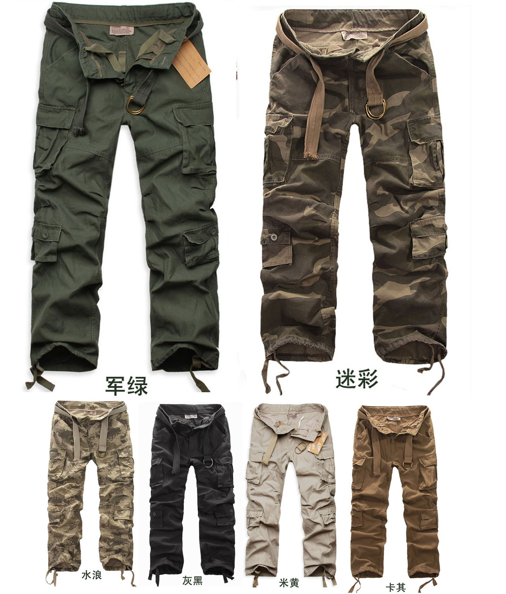 2015 Autumn -summer mens Military Training camo cargo pants Outdoor Casual men camouflage trousers Army green - Fashionable Men store