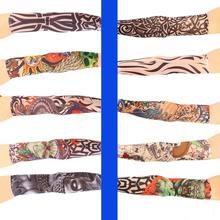 1pc Cool Multi colors Superfine fiber elastic Fake tattoo sleeve Arm stockings temporary tatoo Sport Skins Sun Protective(China (Mainland))