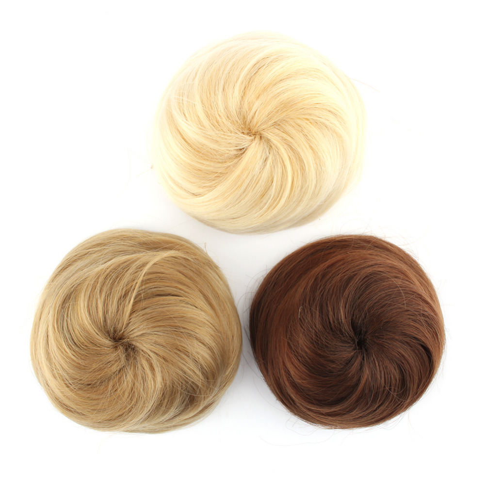 2017 Wholesale Peruca Styling Tools Sytnhetic Fake Hair Bun Wig Hair Chignons Roller Hepburn Hairpiece Clip Buns Toupee