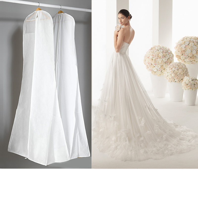 3 Sizes Wedding Dress Bags Clothes Cover Dust Cover Garment Bags Bridal Gown Bag For Mermaid Wedding Dress Cover(China (Mainland))