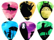 10PCS 1.0mm high quality guitar picks two side pick Hayao Miyazaki picks earrings DIY Mix picks guitar