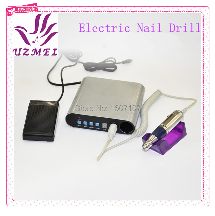 30000 Rpm Professional Electric Acrylic Nail Drill File Manicure Kit 220V Eu Plug Nail Tools-UZM248(China (Mainland))