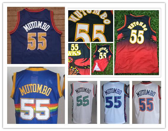 cheap #55 Dikembe Mutombo Jersey,Throwback 1995 1996 all star men's Basketball Jerseys(China (Mainland))