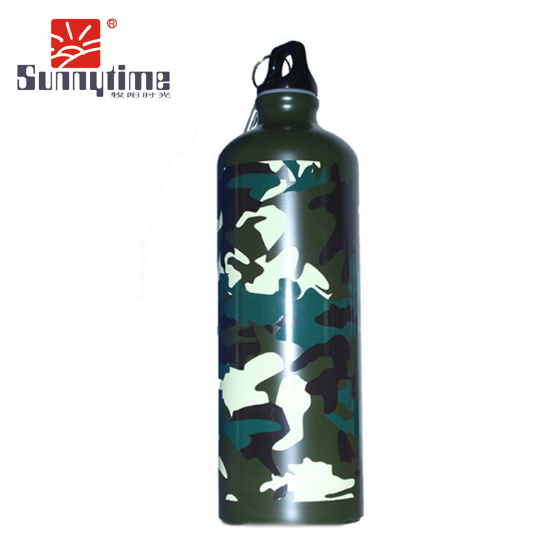 Travel outdoor travel mountaineering sport bottle cup aluminum kettle camouflage military fans kettle lightweight utility LX750L(China (Mainland))