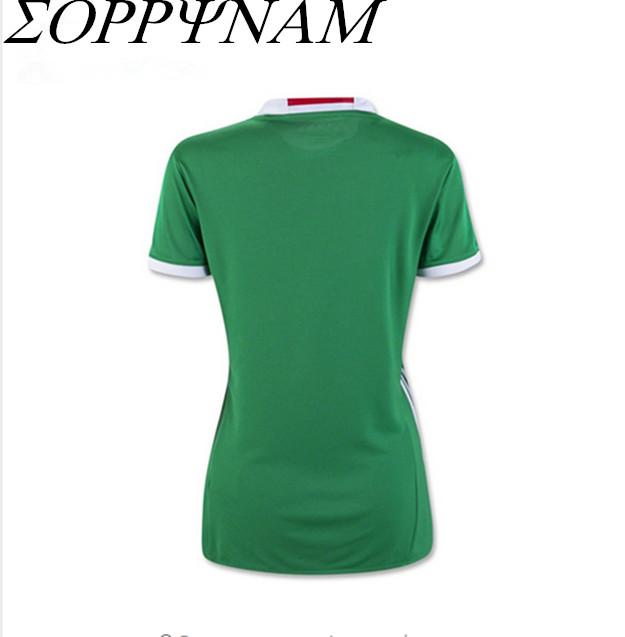 SORRYNAM Green 2016 MEXICO SOCCER JERSEY Women Camiseta de futbol MEXICO 2016 jersey local verde girl Football uniform Shirt(China (Mainland))