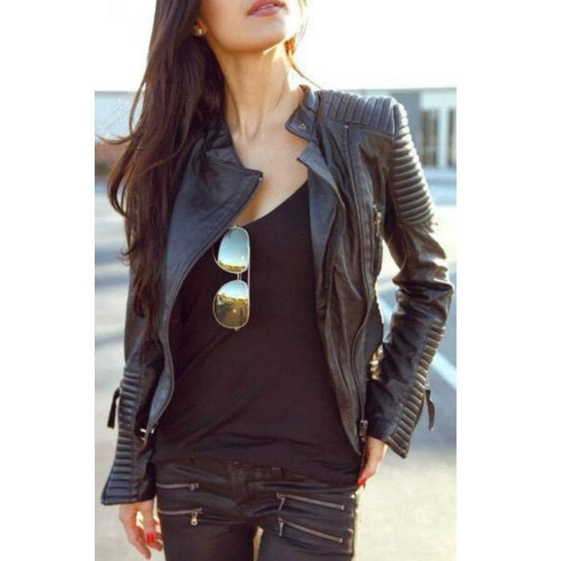 2015 nouveau mode automne hiver femmes marque faux cuir. Black Bedroom Furniture Sets. Home Design Ideas