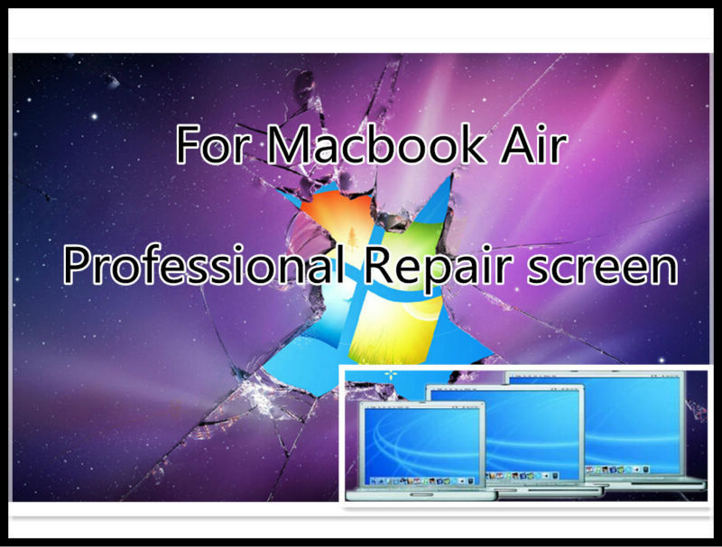For MacBook Air A1370 A1369 A1465 A1466 Screen Assembly screen backlight  Back cover professional repair service <br>