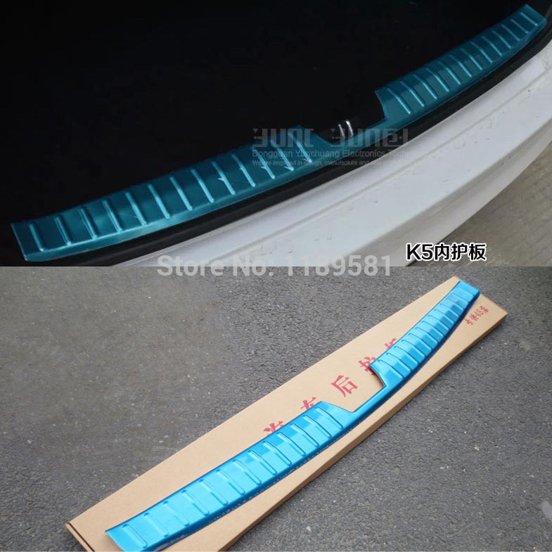 KIA K5 2014 2015+ Stainless Steel Interior Inner Rear Bumper Sill Protector - auto seller's store