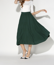 2016 Summer Temperament Wild Thin Chiffon Skirt Solid 3 Color Elastic High Waist Ladies A-Line Holiday Fashion Skirts Vestidos