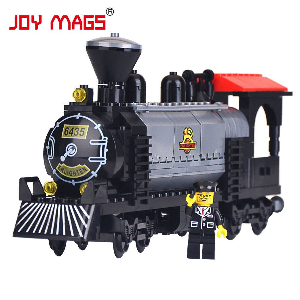 JOY MAGS 631 The Train Heavy Steam Engine with Driver Building Blocks Toys Compatible with All Brand(China (Mainland))