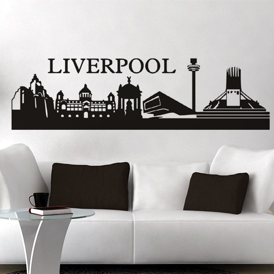 Free shipping wall stickers wall decor PVC vinyl stickers City Football stickers Liverpool L-140(China (Mainland))