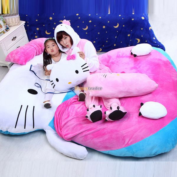 Fancytrader 200cm X 150cm Super Lovely Huge Soft Hello Kitty Double Bed Carpet Sofa Tatami, Free Shipping FT50312<br><br>Aliexpress