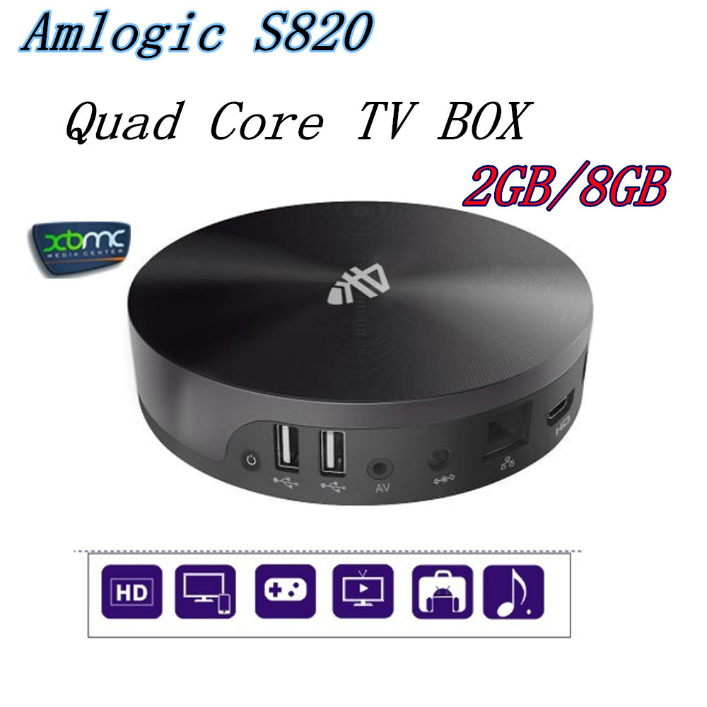 S82 XBMC Android TV Box Quad Core Amlogic S802 2GB/8GB Mali450 GPU 4K HDMI Bluetooth WiFi 4.4 KitKat Mini PC - Shenzhen corder xin technology co., LTD store