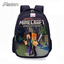 Minecraft школьный ранец с изображением мультяшных геров дети рюкзак милый основной студент школьные ранцы для мальчиков обувь для девочек дет...(China)
