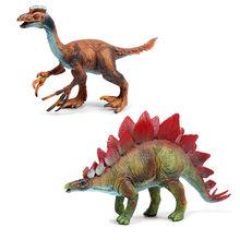 2 pçs/set Tamanho Grande Mundo Jurássico Parque do Dinossauro Modelo De Dragão de Plástico Conjunto de Brinquedos para Meninos Figuras de Ação Crianças Simulado Sólida brinquedo divertido(China)
