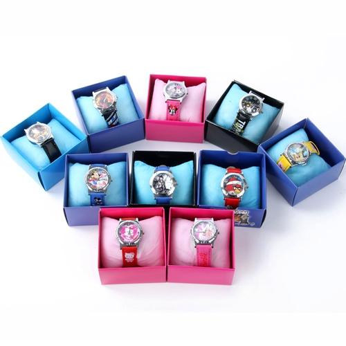 Lovely Cartoon Wristwatch Child Leather Band Boys Girls Kid Analog Quartz Watch Free Shipping