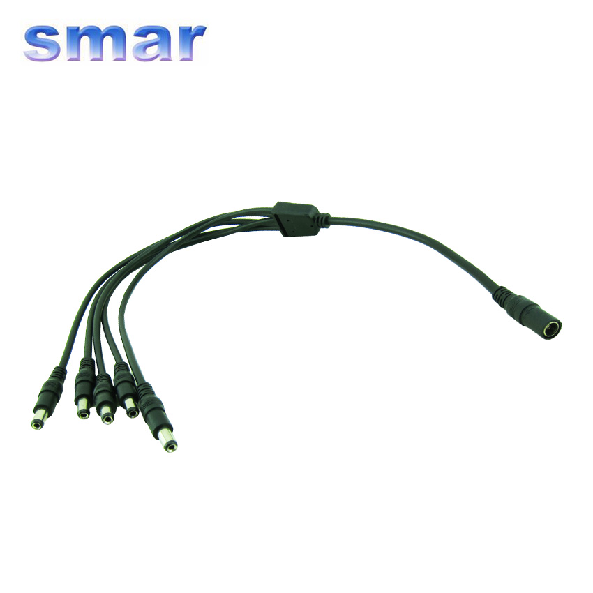 1 to 5 DC Power Splitter Adapter Cable CCTV Camera Cable for Security Surveillance System(China (Mainland))