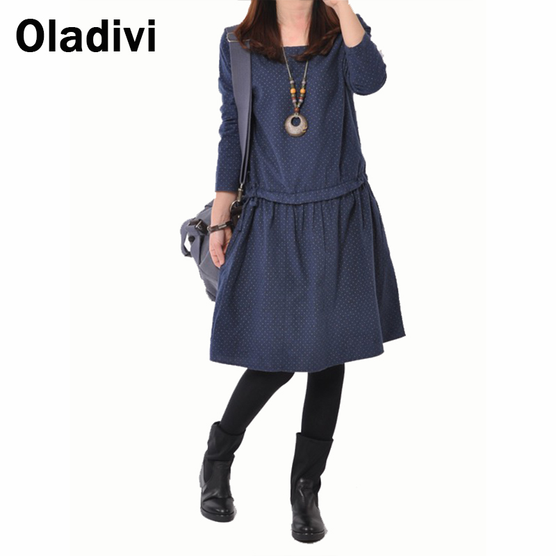 2015 New Spring Fashion Women Large Size Korean Version Casual Long Sleeved Loose Style Novelty Dress Spring Winter Dresses XXL(China (Mainland))