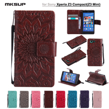 Buy Fundas Case Sony Xperia Z3 Compact M55W D5803 D5833 Embossed PU Leather Wallet Flip Stand Back Cover Case Xperia Z3 Mini for $3.89 in AliExpress store