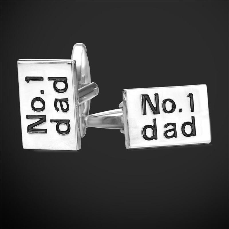 Classic No.1 Dad Men Cufflinks 18K Gold/Platinum Plated Cuff Link Men Jewelry For Business Party Casual Wholesale Jewelry IC1988(China (Mainland))