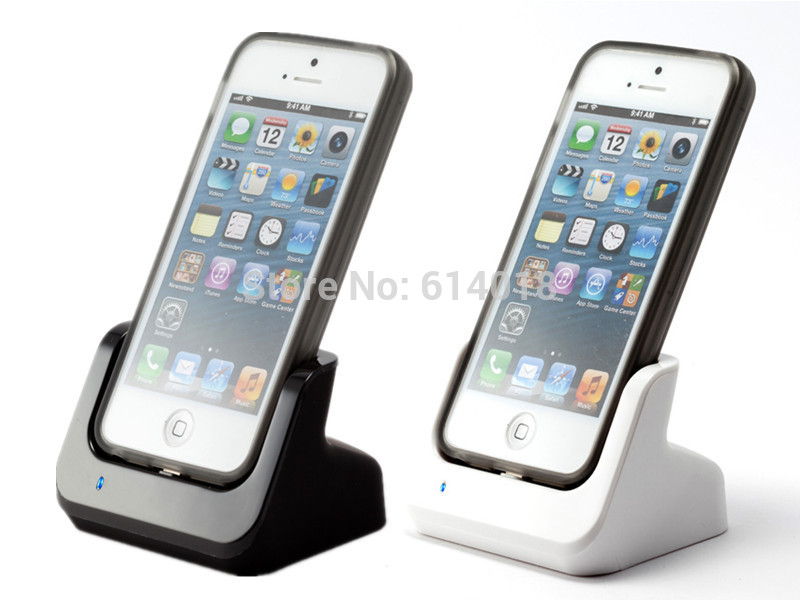 Charger Dock For iPhone 5S 5 5C Charging Docking Station Cradle Data Sync with USB Cable Black & White-T01(China (Mainland))