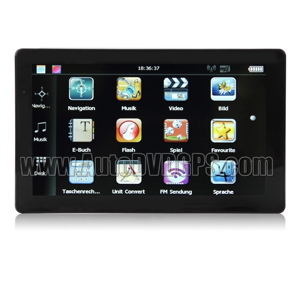 """Portable Car GPS Navigator With 7"""" TFT Touch Screen FM Transmitter(China (Mainland))"""