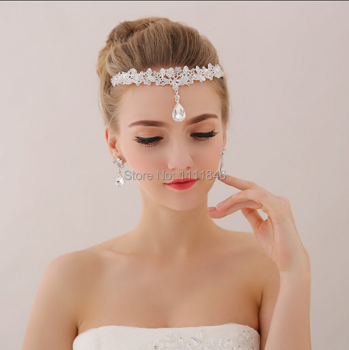 High end crystals bridal headdress frontlet forehead for Where to buy wedding accessories