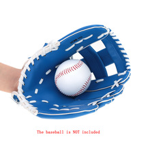 "10.5"" PVC Artificial Leather Left Hand Softball Baseball Glove Adjustable Durable Outdoor Team Sports Gloves Lightweight Blue(China (Mainland))"