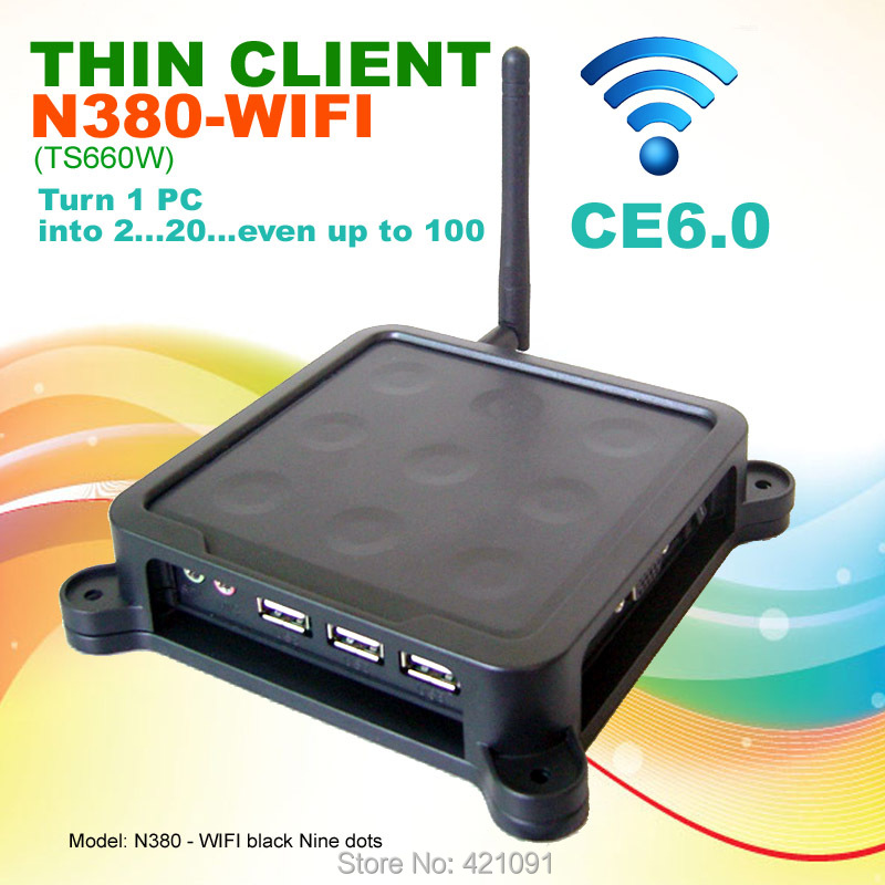 N380 W ( TS660W ) Black Nine Dots WIFI MINI PC CE 6.0 Thin Client Flash XP 2000 Server 2003 Windows 7 or 8 Linux supported(China (Mainland))
