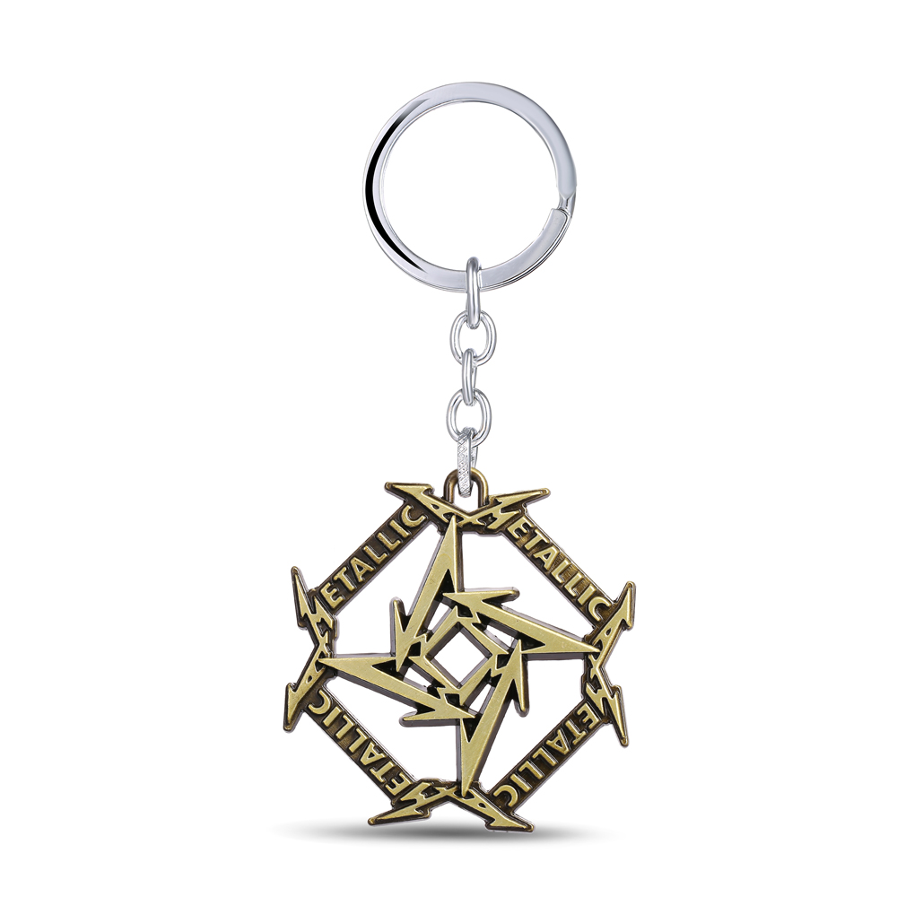 MS JEWELS Fans Gifts Jewelry Music Band Metallica Keychain Metal Key Rings Chaveiro Key Chain and Key Rings(China (Mainland))