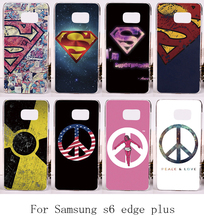 Cool cartoon Pattern Cover For Samsung Galxy S6 Edge Plus Cases SupermanSpider Man Hard Plastic and Soft TPU Durable Shell