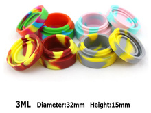 10PCS 32*15mm 3ml round shape wax containers silicone jars container silicone contianer for wax silicone jar dab (China (Mainland))