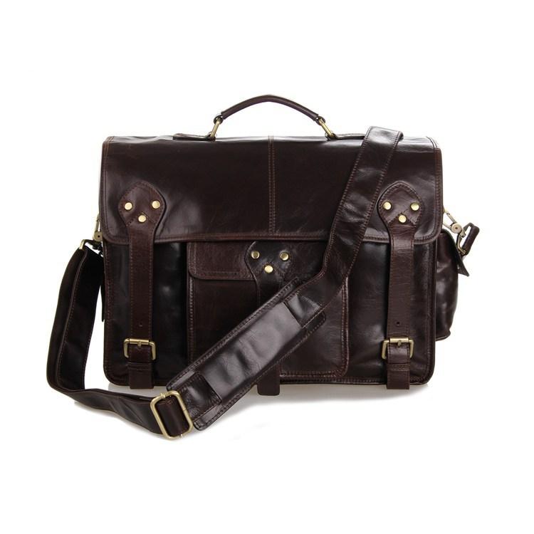 High Quality Vintage Real Genuine Leather Briefcase Portfolio Men Messenger Bags Handbags Business Travel Bag #MW-J7200C<br><br>Aliexpress