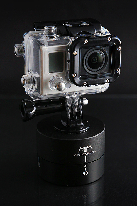 Universal 360TL Ball Time Lapse Pan and Tripod Tilt Head/360 Degree Gimbal Auto Rotation Camera Mount for GoPro and DSLR(China (Mainland))