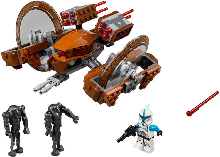 163pcs Bela 10370 Star Wars Building Blocks Toys Attack of the Clones Hailfire Droid Exclusive Sets Bricks Compatible With Legoe(China (Mainland))