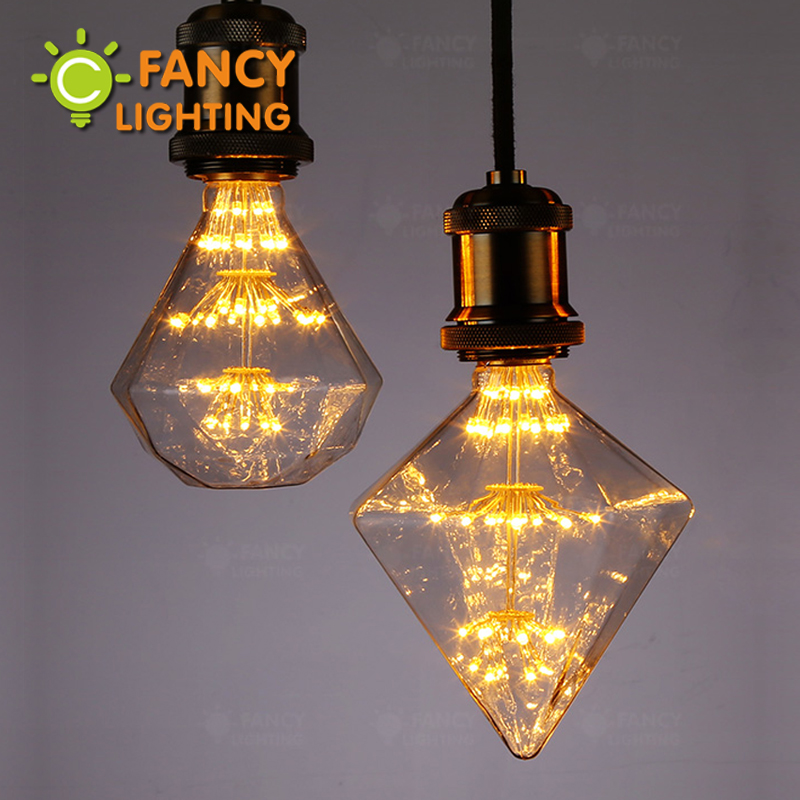 G95 G125 Diamond Starry sky lamp LED Edison Filament Light bulb E27 220V 3W Energy saving Firework led bulb Christmas gift decor(China (Mainland))