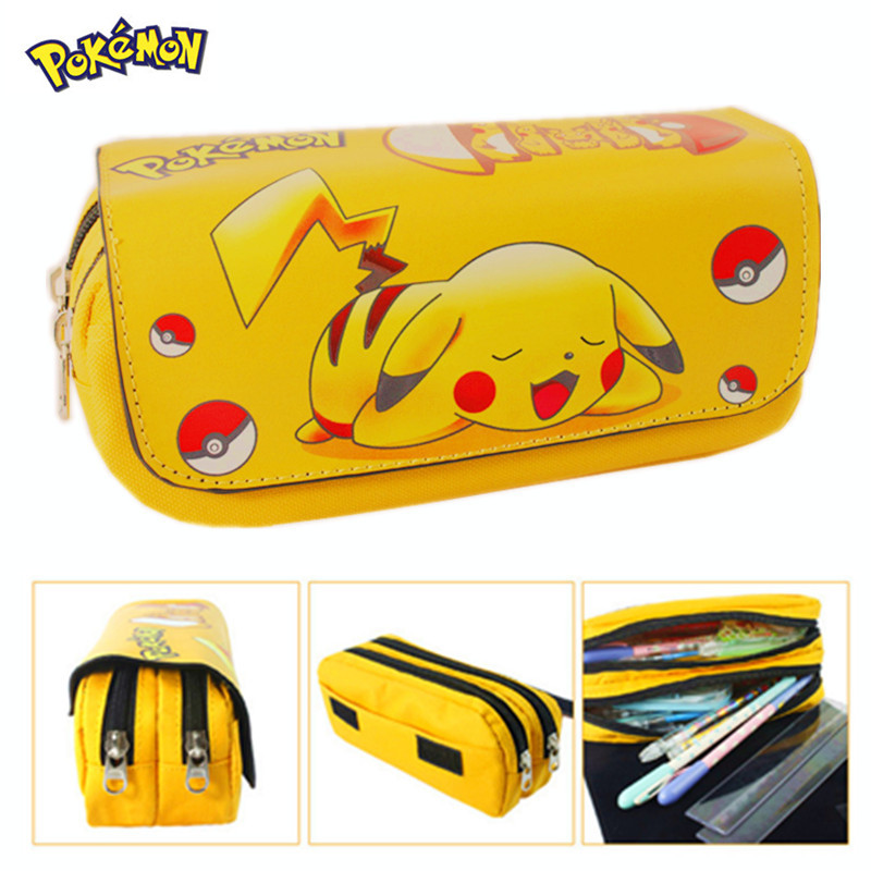 2016 Cartoon Pencil Pen Case Pokemon Gravity Falls Totoro Dragon Ball Zelda Adventure Time Cosmetic Makeup Coin Pouch Zipper Bag(China (Mainland))