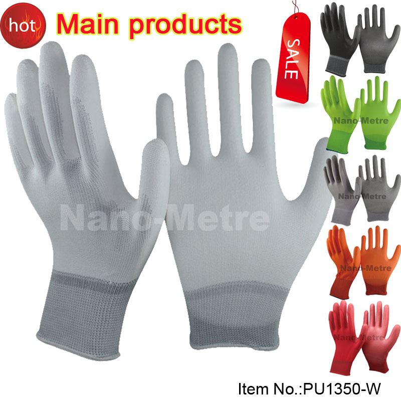 NMSafety White Nylon Anti Static Antiskid Glove ESD Electronic Working White Color <br><br>Aliexpress