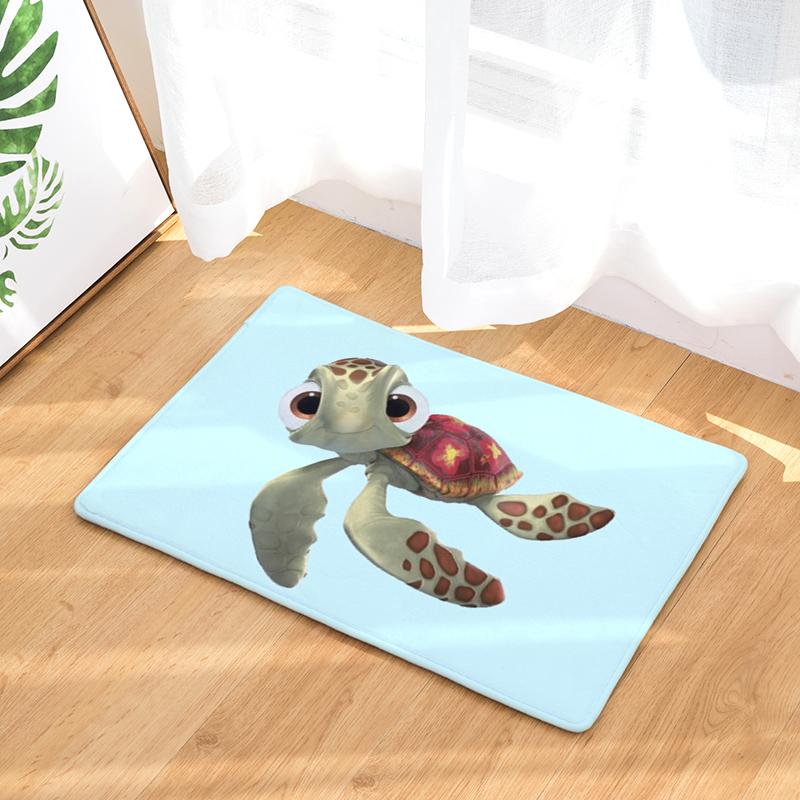 Cartoon Flannel Carpet Turtle Theme 2 Printing Mat For Living Room 40x60cm  50x80cm Door mat Rectangle Tapete - us866 d6e82da6b5