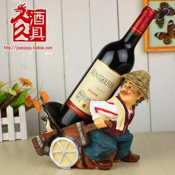 Special price,carter driver red wine rack, creative wine bottle shelf rack, resin holder /  stand
