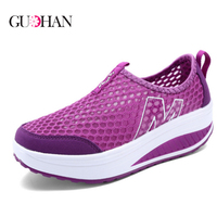 Height Increasing 2016 Summer Shoes Women's Causal Shoes Sport Fashion Walking Shoes for Women Swing Wedges Shoes Breathable