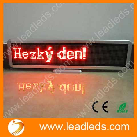 Red-color 16*96 LED Dots Moving Message Display Programmable LED SIGN Board for car Advertising(China (Mainland))