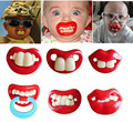 Funny pacifiers silicone baby pacifier lip mouth soother nipple baby supplies dummy joke prank tooddler teether