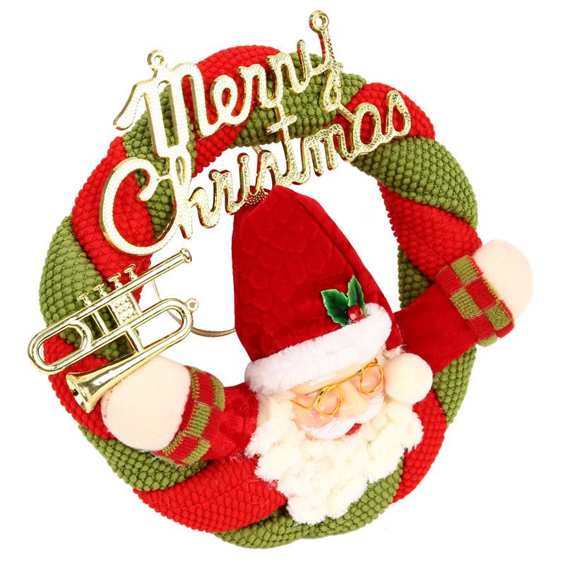 Snowman santa claus circular pendant hristmas christmas for New home christmas decoration
