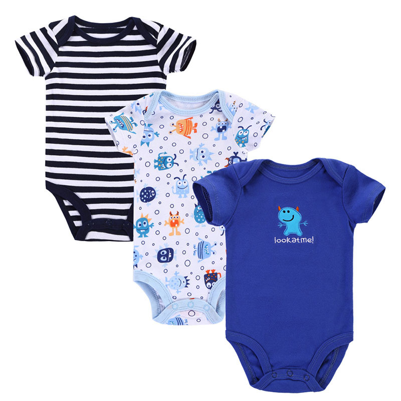 3pcs lot 2015 baby rompers newborn baby boy girl clothes roupa