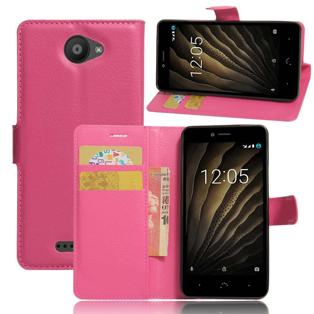 Coque Para BQ Aquaris U Lite Case Stand Wallet Flip Leather Protective Phone Cover BQ Aquaris U Lite Case Card Slots
