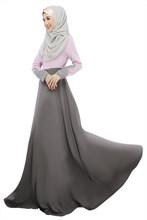 2019 Musulmano vestito delle donne In Chiffon dubai abaya tessuto turco abiti musulmano abbigliamento islamico vestito Abaya dubai hijab B8007(China)