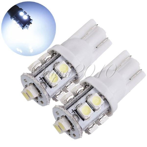 10pcs 24V 3528 10 SMD T10 W5W 501 LED Car Auto Sidelight Bulb White Parking License Plate Light Wholesale Free Shipping(China (Mainland))