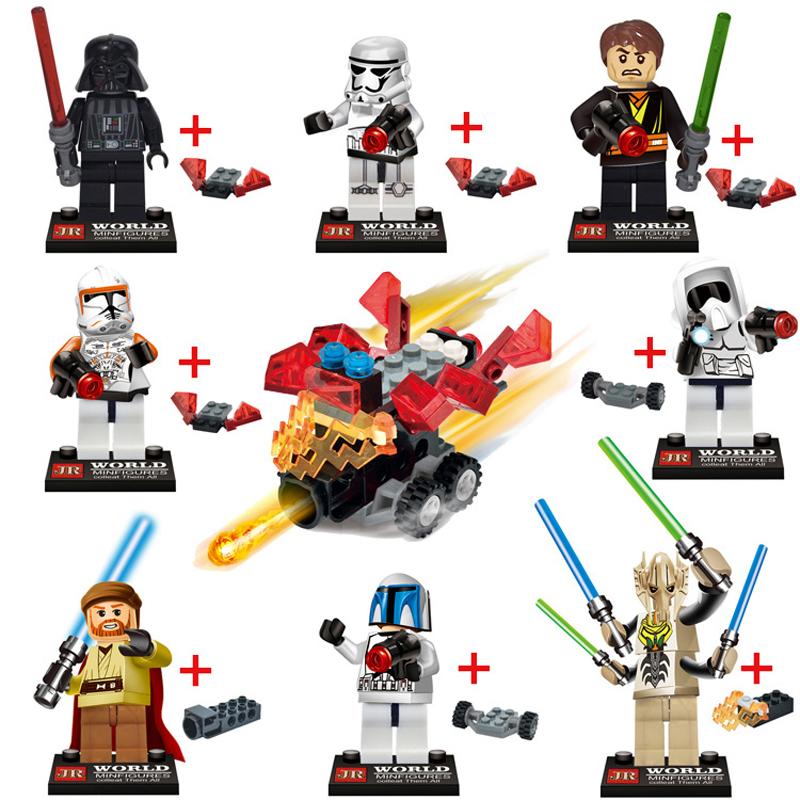 2015 New 8Pcs Star Wars The Force Awakens Kylo Ren Captain Phasma Minifigure Building Blocks Bricks Model Toys Compatible Legoe<br><br>Aliexpress