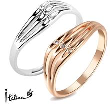 Italina Rigant 18K Rose Gold Plated Genuine Austrian Engagement Ring Made With Swarovski Crystal Stellux  #RG91736
